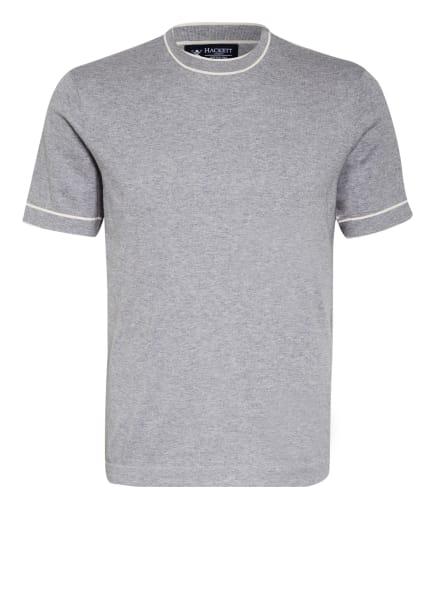 HACKETT LONDON T-Shirt mit Seide, Farbe: HELLGRAU (Bild 1)
