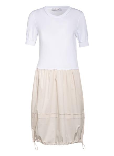PESERICO Kleid im Materialmix, Farbe: WEISS/ CREME (Bild 1)