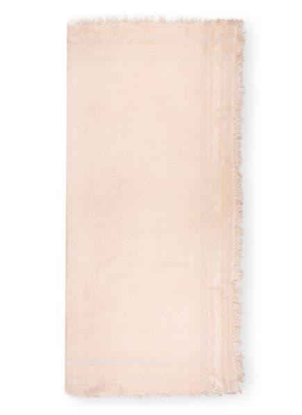 PESERICO Tuch mit Paillettenbesatz, Farbe: NUDE/ SILBER (Bild 1)