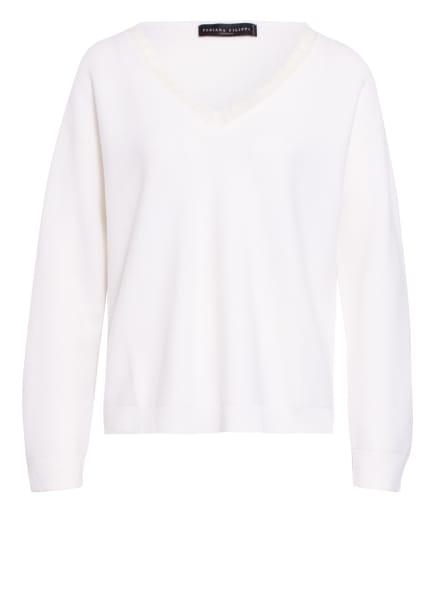 FABIANA FILIPPI Cashmere-Pullover, Farbe: WEISS (Bild 1)