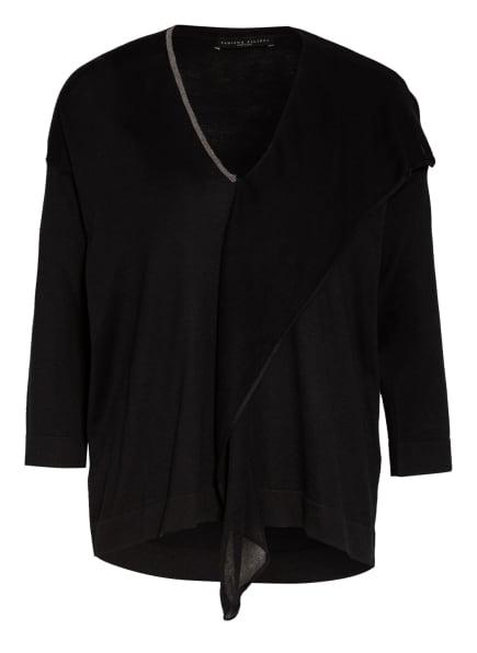 FABIANA FILIPPI Pullover mit Seide und Schmucksteinbesatz, Farbe: SCHWARZ (Bild 1)