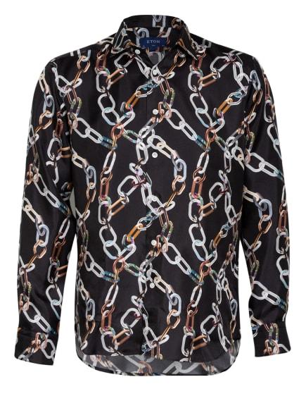 ETON Hemd aus Seide Slim Fit, Farbe: SCHWARZ/ GRAU/ BRAUN (Bild 1)