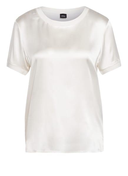 s.Oliver BLACK LABEL Blusenshirt im Materialmix, Farbe: CREME (Bild 1)