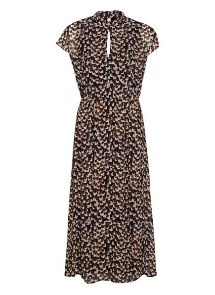s.Oliver BLACK LABEL Kleid, Farbe: SCHWARZ/ BEIGE/ BRAUN (Bild 1)