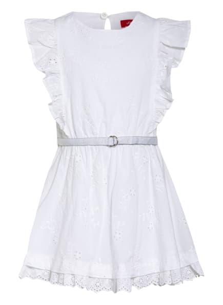 s.Oliver RED Kleid mit Lochstickerei, Farbe: WEISS (Bild 1)