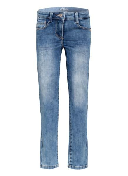 s.Oliver RED Jeans Slim Fit, Farbe: BLAU/ HELLBLAU (Bild 1)