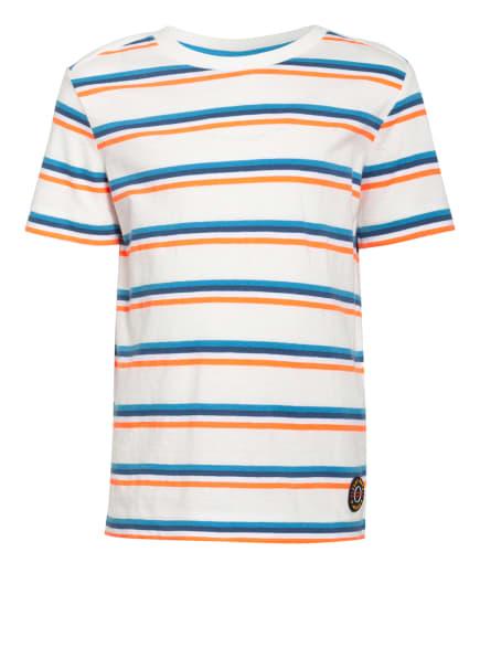 s.Oliver RED T-Shirt, Farbe: WEISS/ DUNKELBLAU/ ORANGE (Bild 1)