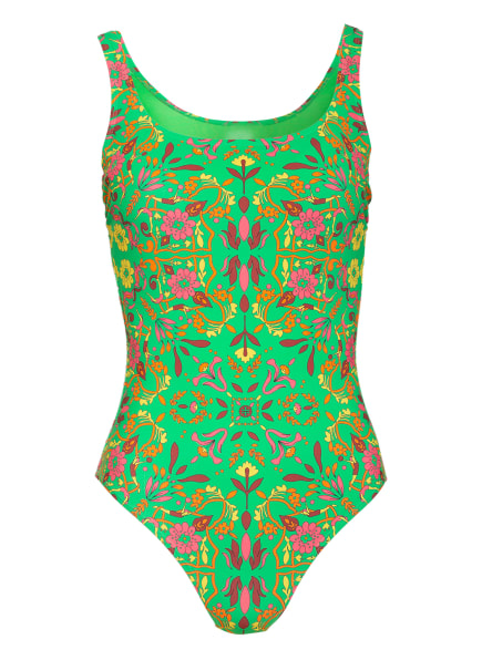TORY BURCH Badeanzug , Farbe: GRÜN/ ORANGE/ BRAUN (Bild 1)