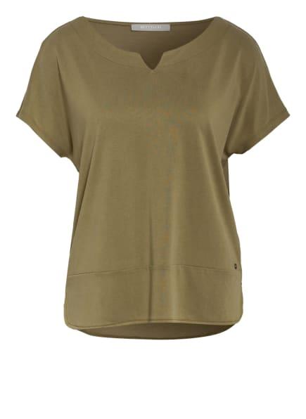 BETTY&CO T-Shirt im Materialmix, Farbe: OLIV (Bild 1)