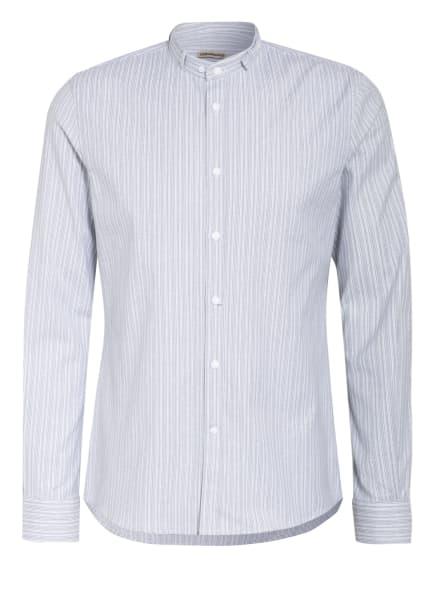 Gottseidank Trachtenhemd LENZ Extra Slim Fit, Farbe: BLAU/ GRAU/ WEISS (Bild 1)