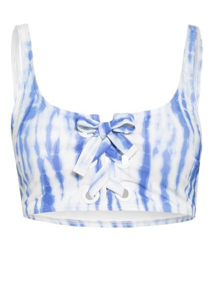 MICHAEL KORS Bustier-Bikini-Top, Farbe: WEISS/ BLAU (Bild 1)