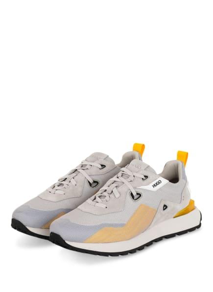 HUGO Sneaker CUBITE RUNN, Farbe: GRAU/ DUNKELGELB (Bild 1)