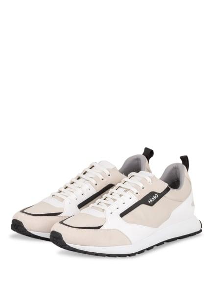 HUGO Sneaker ICELIN, Farbe: WEISS/ SCHWARZ/ BEIGE (Bild 1)