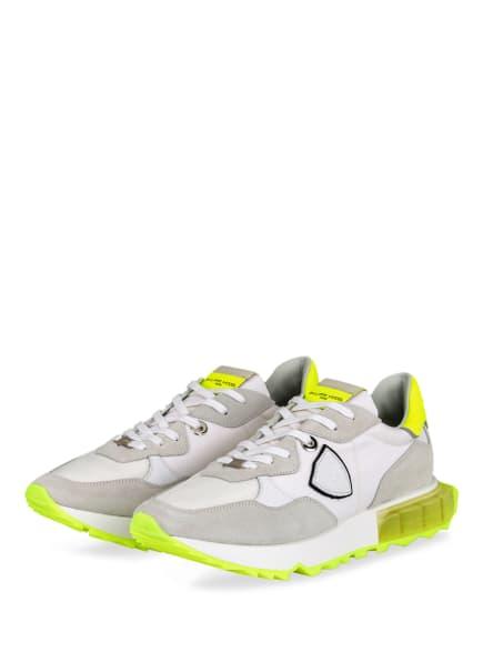 PHILIPPE MODEL Sneaker LA RUE, Farbe: WEISS/ NEONGELB/ HELLGRAU (Bild 1)