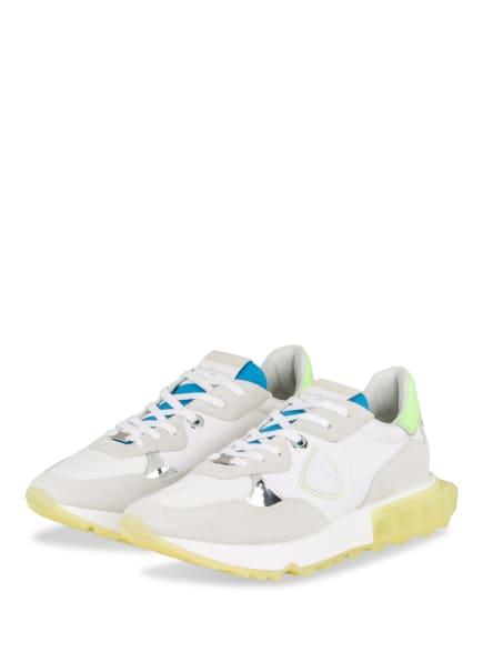 PHILIPPE MODEL Sneaker LA RUE, Farbe: WEISS/ NEONGRÜN/ HELLBLAU (Bild 1)
