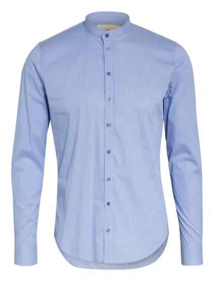 Q1 Manufaktur Hemd Slim Fit mit Stehkragen, Farbe: HELLBLAU/ WEISS (Bild 1)