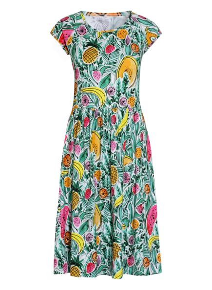 ZAÍDA Jerseykleid, Farbe: WEISS/ GRÜN/ PINK (Bild 1)