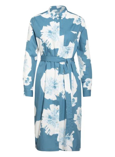 LIEBLINGSSTÜCK Hemdblusenkleid RAFAELAL, Farbe: PETROL/ WEISS (Bild 1)