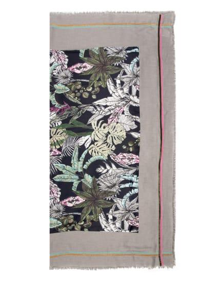 LIEBLINGSSTÜCK Tuch MadonnaL im Materialmix, Farbe: GRAU/ SCHWARZ/ GRÜN (Bild 1)