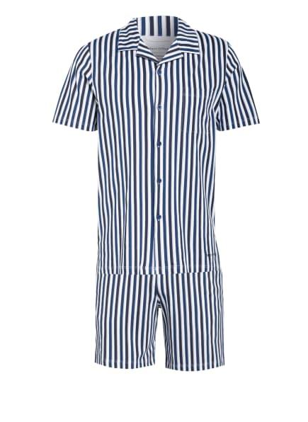 Marc O'Polo Shorty-Schlafanzug, Farbe: WEISS/ BLAU/ DUNKELBLAU (Bild 1)