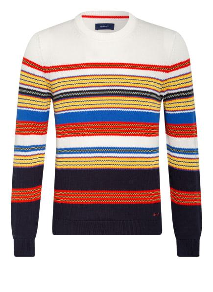 GANT Pullover , Farbe: WEISS/ BLAU/ ROT (Bild 1)