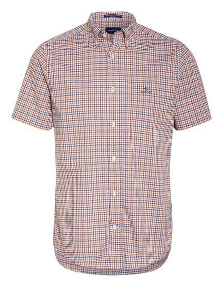 GANT Kurzarm-Hemd Regular Fit, Farbe: WEISS/ BLAU/ ORANGE (Bild 1)
