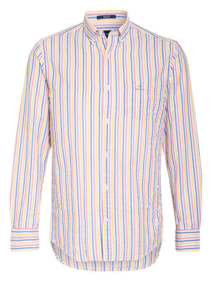 GANT Hemd Regular Fit, Farbe: BLAU/ GELB/ ROSA (Bild 1)