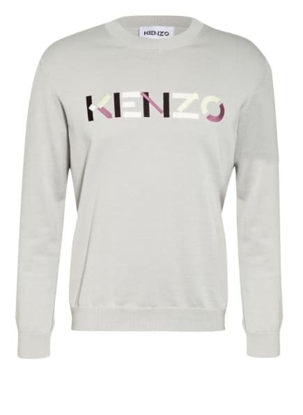 KENZO Pullover, Farbe: HELLGRAU/ HELLGRÜN/ ALTROSA (Bild 1)