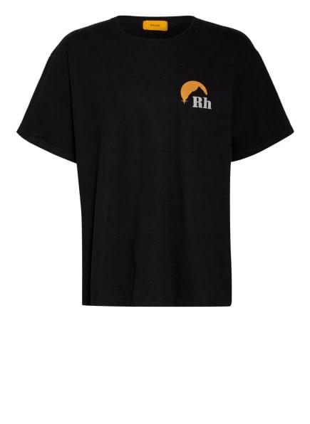 RHUDE Oversized-Shirt, Farbe: SCHWARZ/ DUNKELORANGE (Bild 1)