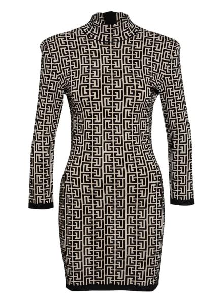 BALMAIN Kleid mit 3/4-Arm, Farbe: SCHWARZ/ BEIGE (Bild 1)