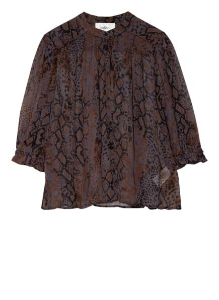 ba&sh Bluse OBELIA mit 3/4-Arm, Farbe: SCHWARZ/ GRAU/ BRAUN (Bild 1)