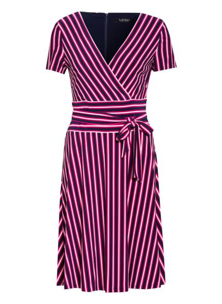 LAUREN RALPH LAUREN Jerseykleid ALAKE, Farbe: FUCHSIA/ DUNKELBLAU/ WEISS (Bild 1)