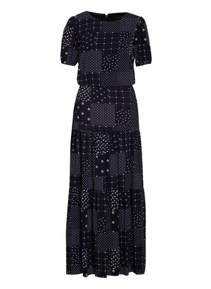 LAUREN RALPH LAUREN Kleid MYRIAM mit Volants, Farbe: DUNKELBLAU/ WEISS (Bild 1)