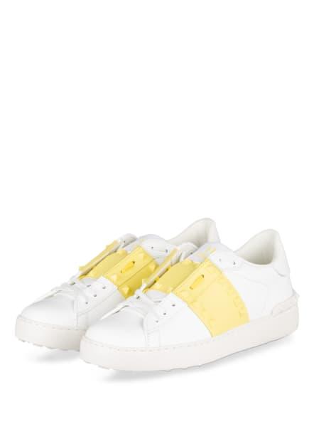 VALENTINO GARAVANI Plateau-Sneaker ROCKSTUD, Farbe: WEISS/ GELB (Bild 1)