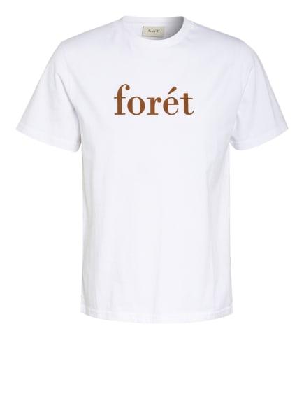 forét T-Shirt, Farbe: WEISS/ CAMEL (Bild 1)