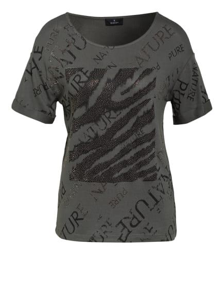 monari T-Shirt mit Schmucksteinbesatz, Farbe: KHAKI (Bild 1)