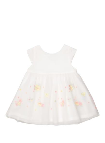 PETIT BATEAU Kleid mit Stickereien , Farbe: WEISS/ GELB/ HELLROSA (Bild 1)