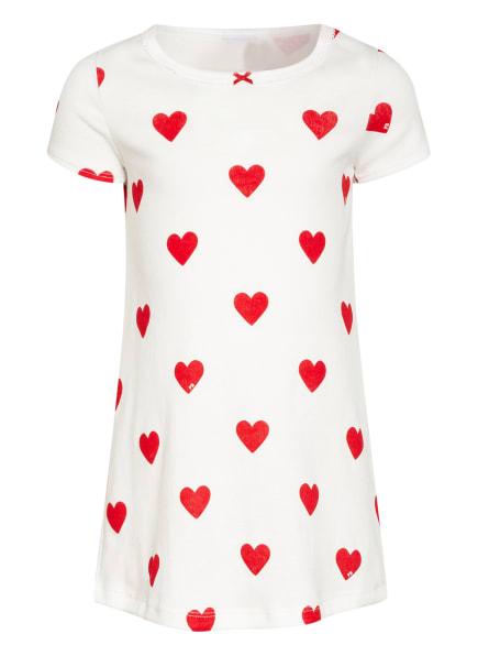 PETIT BATEAU Nachthemd, Farbe: WEISS/ ROT (Bild 1)
