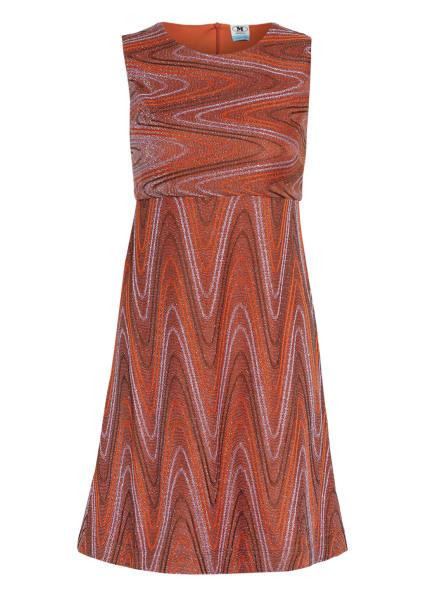 M MISSONI Kleid mit Glitzergarn, Farbe: DUNKELORANGE/ ORANGE/ HELLLILA (Bild 1)