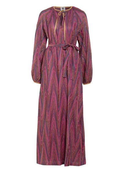 M MISSONI Kleid mit Glitzergarn, Farbe: FUCHSIA/ GOLD/ PETROL (Bild 1)