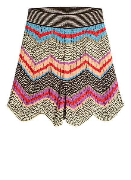 M MISSONI Strick-Shorts, Farbe: HELLGELB/ DUNKELBRAUN/ LILA (Bild 1)