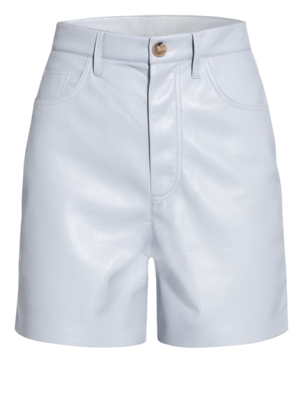 Nanushka Shorts LEANA in Lederoptik, Farbe: HELLBLAU (Bild 1)