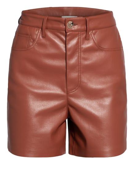 Nanushka Shorts LEANA in Lederoptik, Farbe: DUNKELROT (Bild 1)