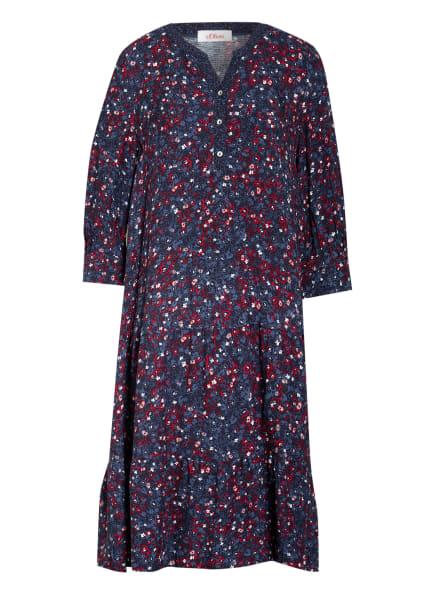 s.Oliver RED Kleid mit 3/4-Arm, Farbe: DUNKELBLAU/ ROT/ WEISS (Bild 1)