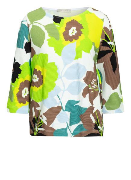 lilienfels Shirt mit 3/4-Arm, Farbe: WEISS/ NEONGRÜN/ HELLBLAU (Bild 1)