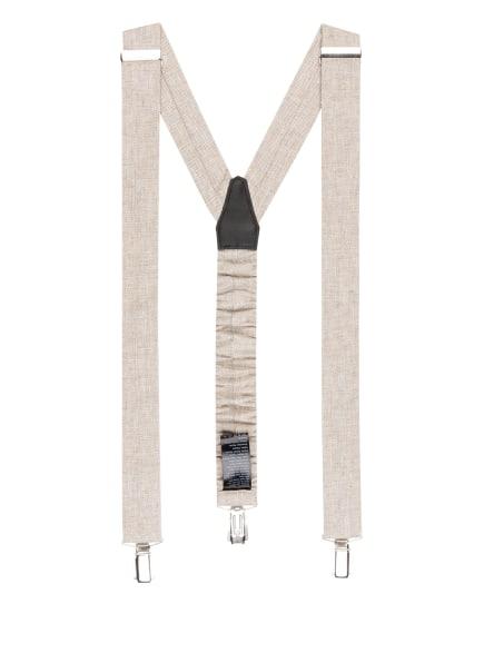 DIGEL Hosenträger LAC mit Leinen, Farbe: WEISS/ HELLBRAUN (Bild 1)