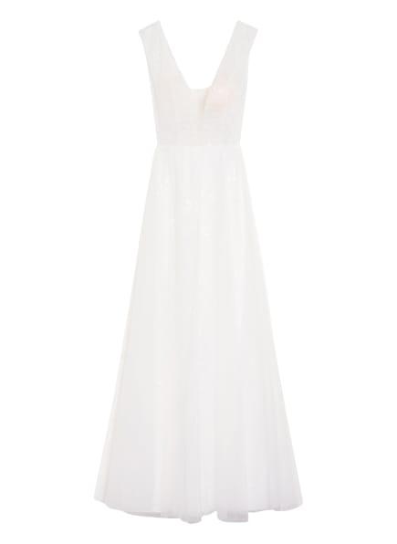 unique Abendkleid mit Paillettenbesatz, Farbe: WEISS (Bild 1)