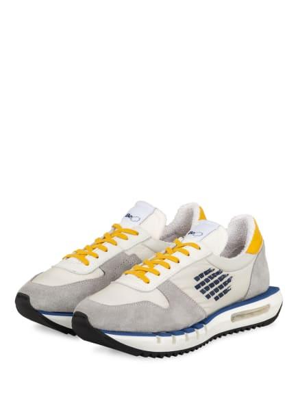 BePositive Sneaker CYBER RUN, Farbe: GRAU/ HELLGRAU/ DUNKELGELB (Bild 1)