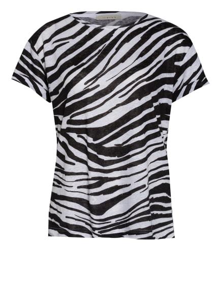 lilienfels T-Shirt aus Leinen, Farbe: SCHWARZ/ WEISS (Bild 1)