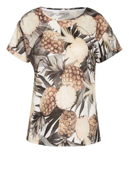 lilienfels T-Shirt aus Leinen, Farbe: CREME/ BRAUN/ SCHWARZ (Bild 1)